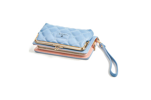 Πορτοφόλι Verde 18-0001136 Μπλέ ανοιχτό