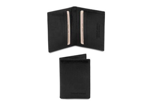 Θήκη Επαγγελματικών/Πιστωτικών καρτών Tuscany-TL142063 Μαύρο