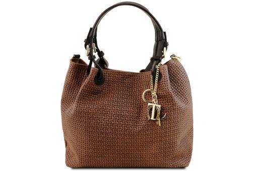 Τσάντα Ώμου-Χειρός Tuscany Keyluck TL141573 Κανελί