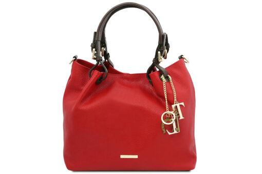 Τσάντα Ώμου-Χειρός Tuscany Keyluck TL141940 Κόκκινο lipstick
