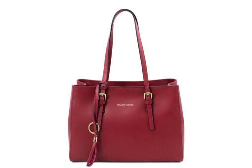 Τσάντα Ώμου-Χειρός Tuscany TL142037 Κόκκινο