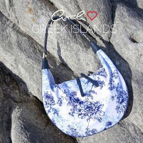 Τσάντα Ώμου-Χειρός Axel HOBO NEREIDA 1010-2590 Λευκό - Μπλε σκούρο